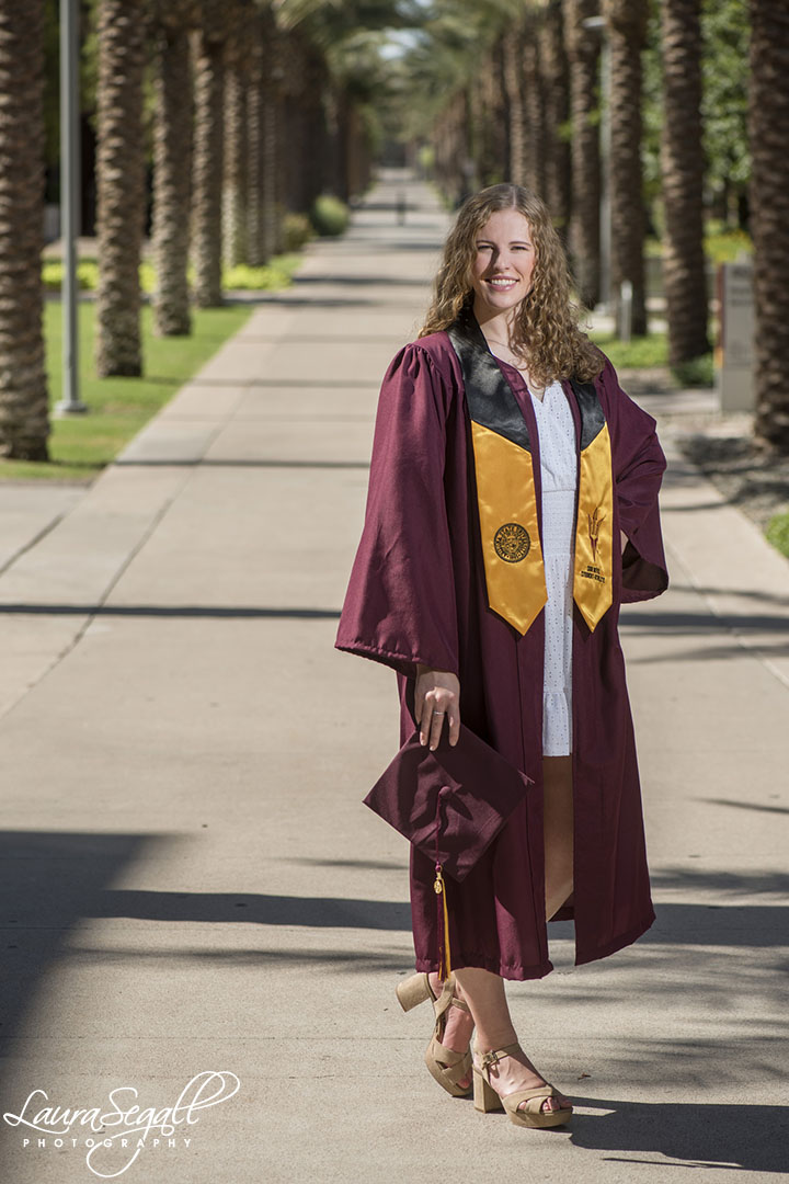 Palm Walk Arizona State University graduation pictures