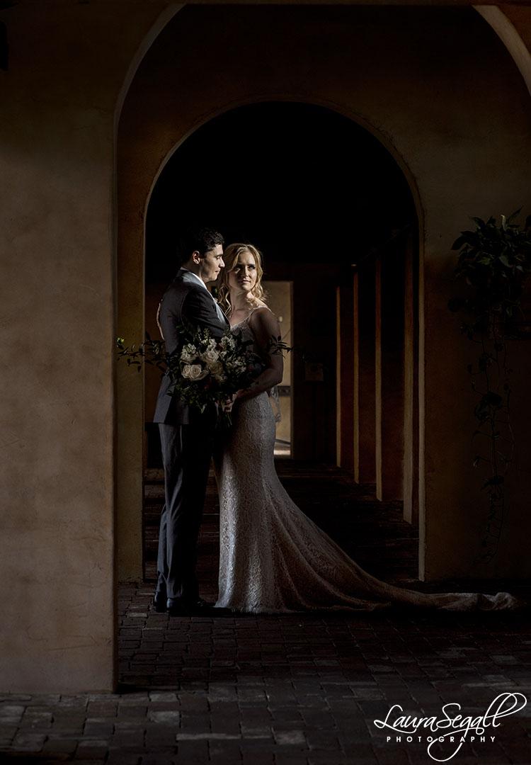 bride and groom Royal Palms
