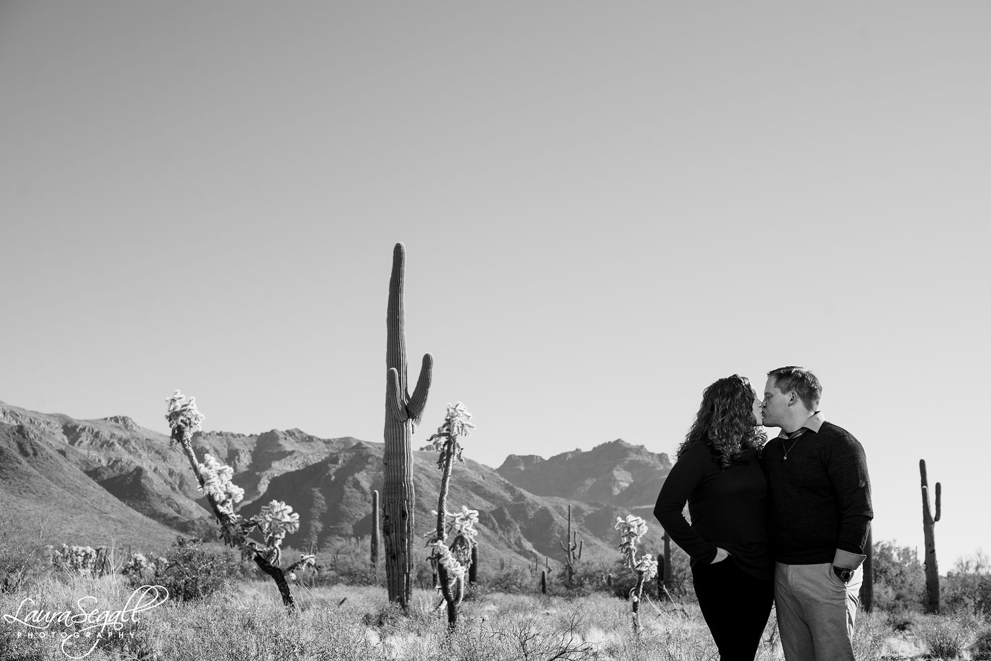Superstition Mountains engagement photography