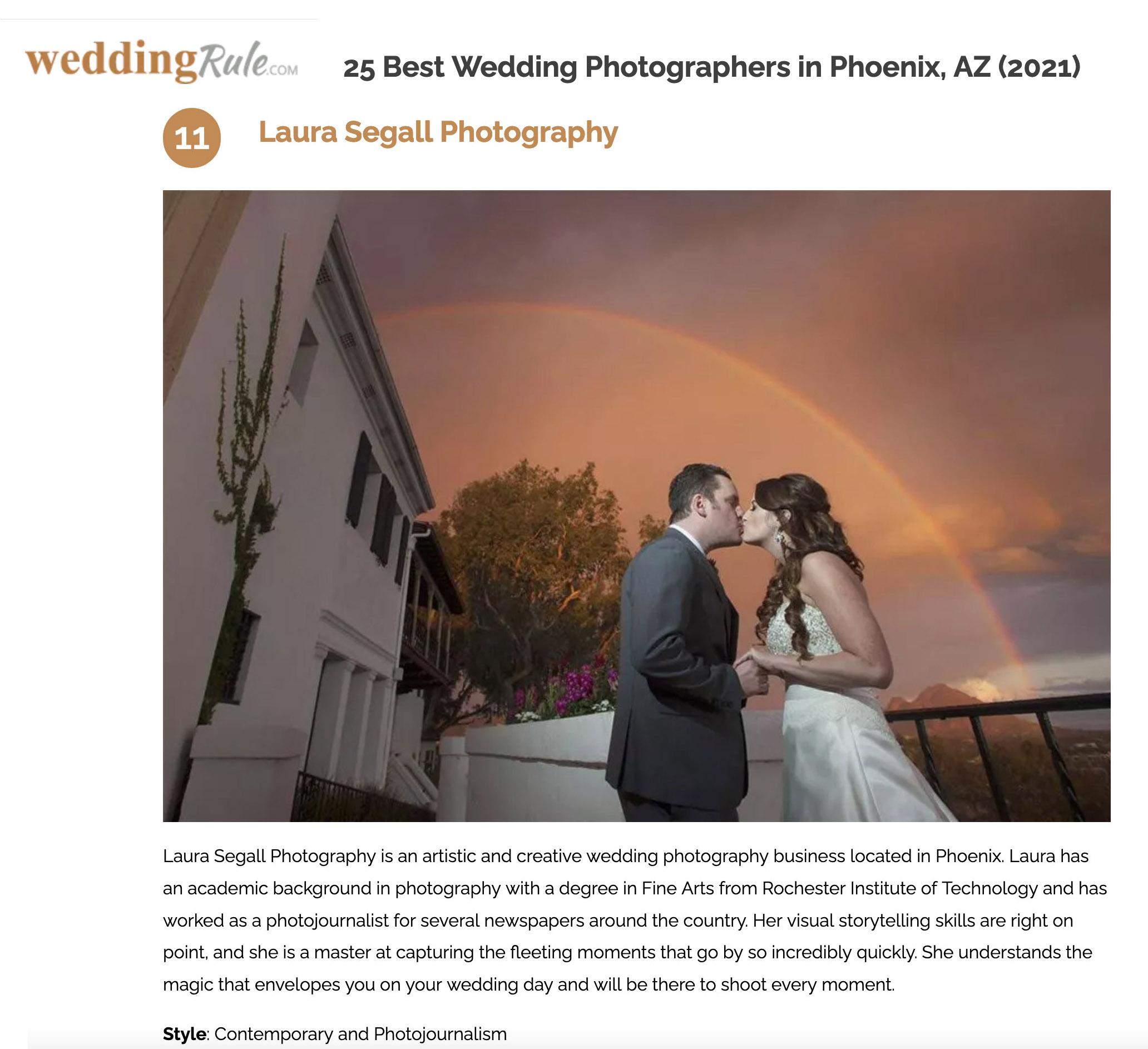 Top 25 wedding photographers