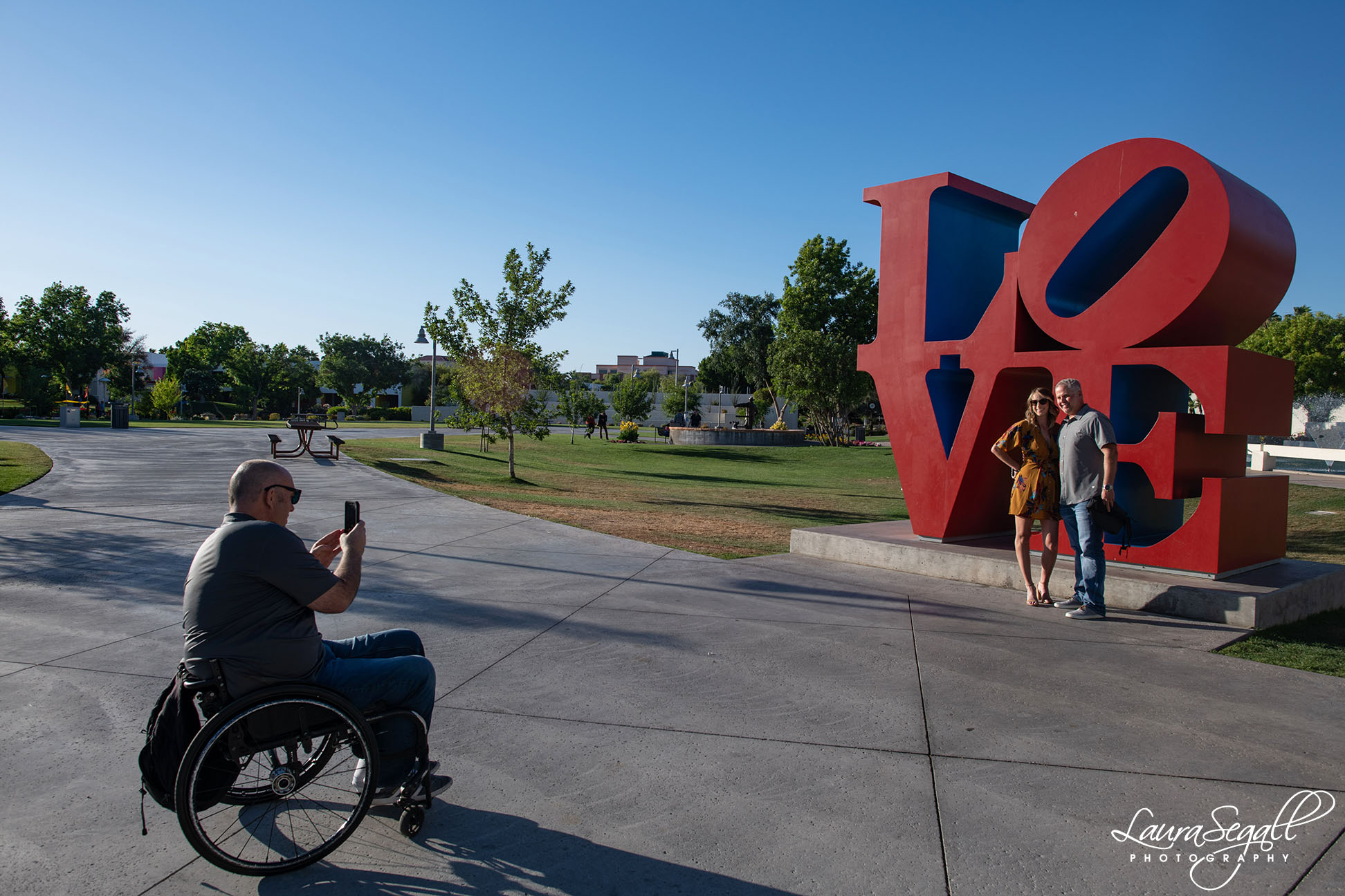 Scottsdale proposal at the LOVE statue