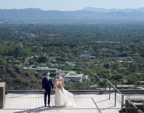 Wedding view from Camelback Mountain