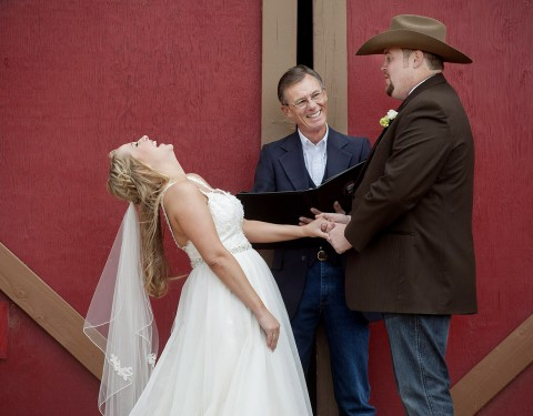 Cowboy barn wedding Desert Foothills