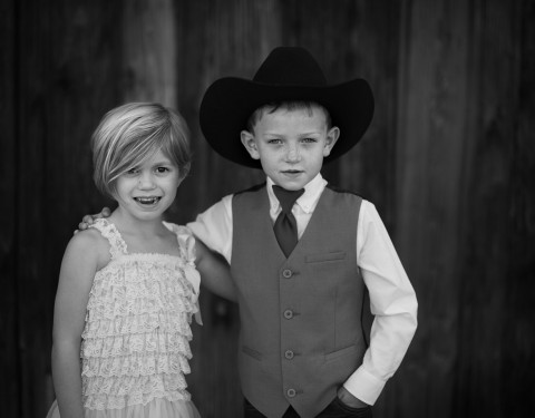 children Desert Foothills wedding barn