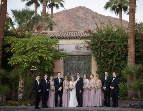 Royal Palms wedding bridal party