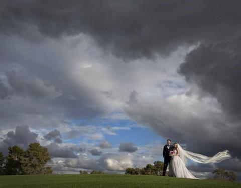 Wigwam Resort wedding stormy rainy day
