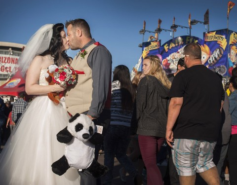 Arizona State Fair wedding on the midway