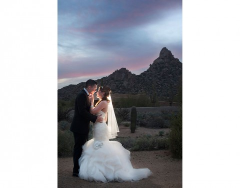 sunset Sassi Scottsdale wedding