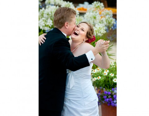 Landmark Vineyard California wedding first dance outside