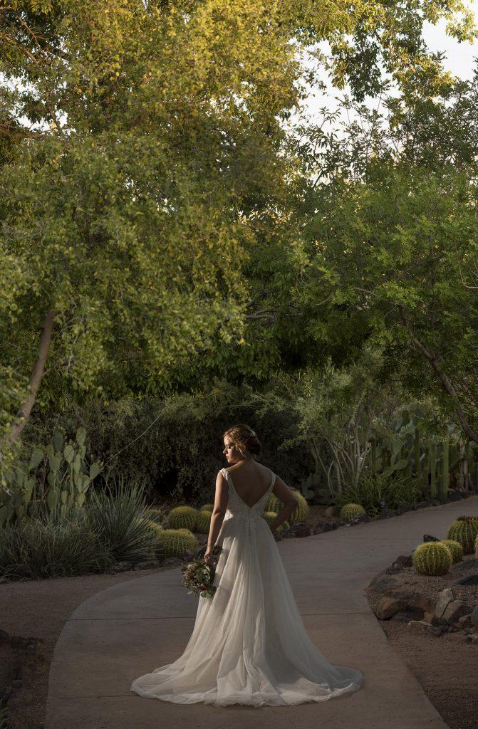 Desert Botanical Garden bride