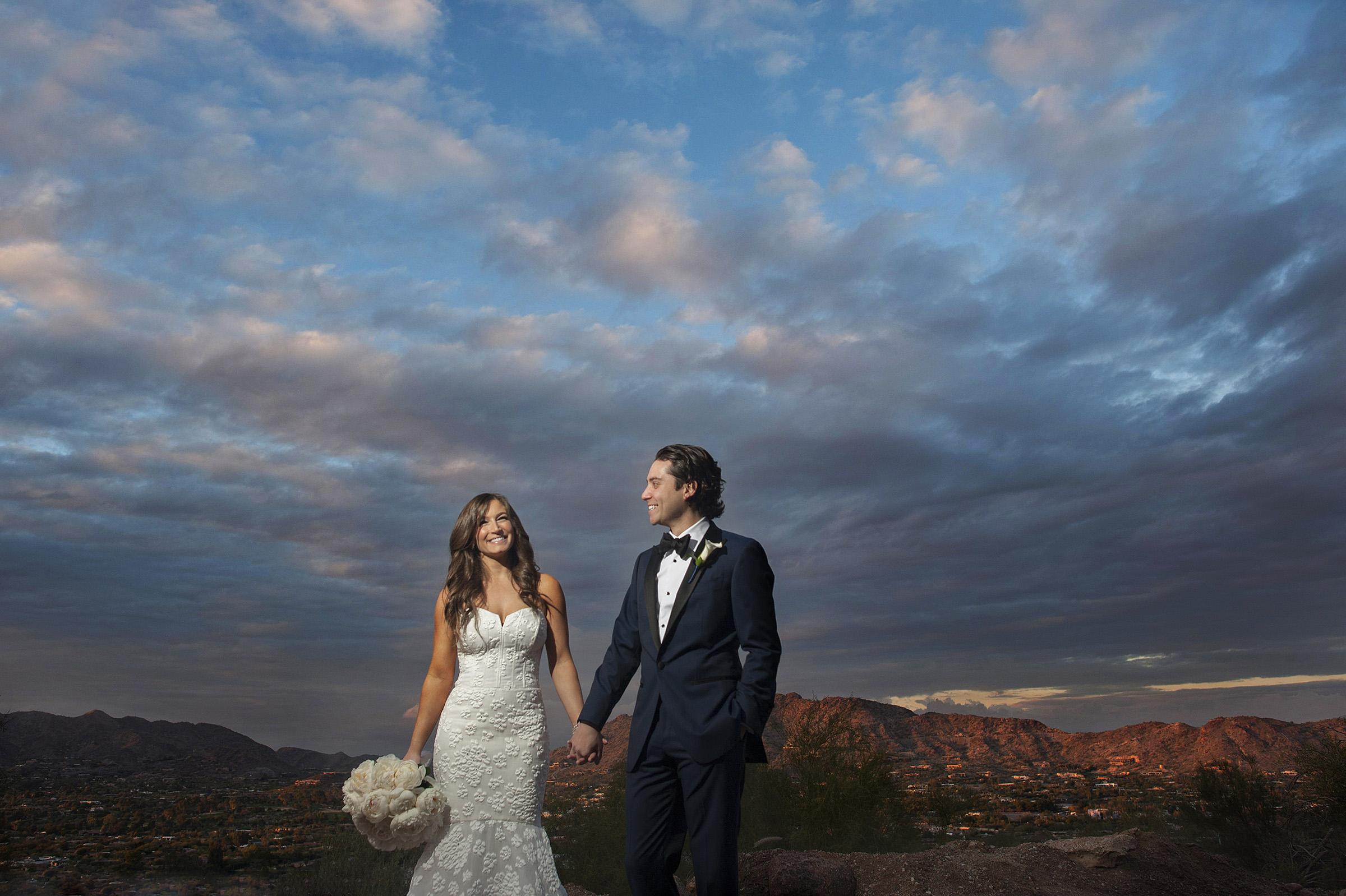 Sanctuary Camelback Mountain wedding sunset