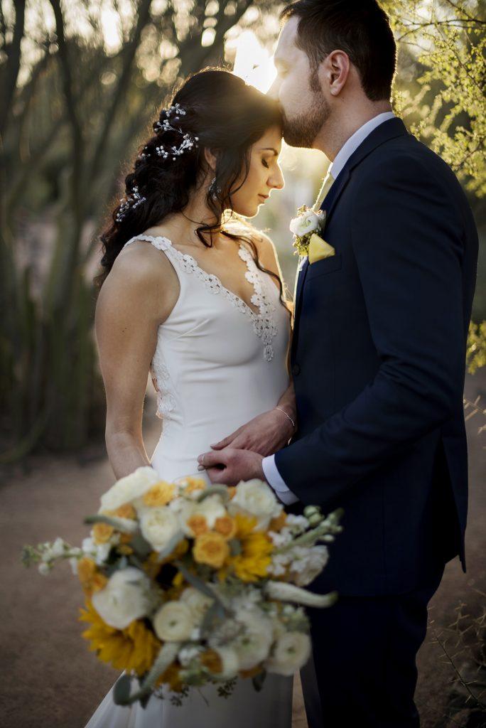 Desert Botanical Garden wedding portrait