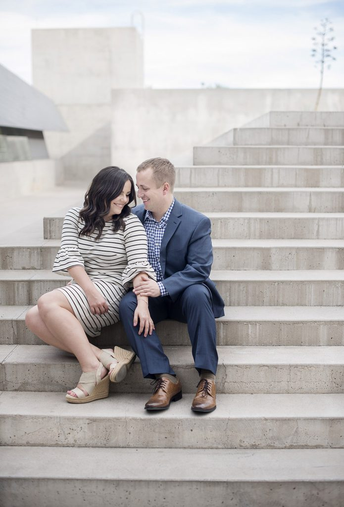 downtown Phoenix engagement session