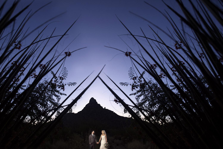 desert sunset wedding