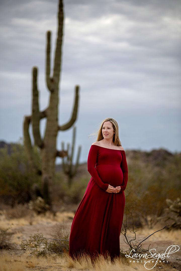 desert maternity photos
