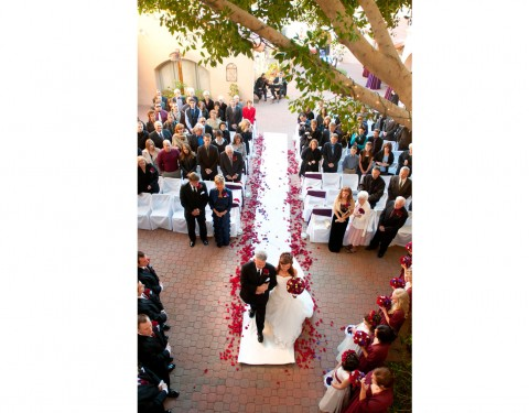Aldea weddings Phoenix Arizona ceremony walk down the aisle