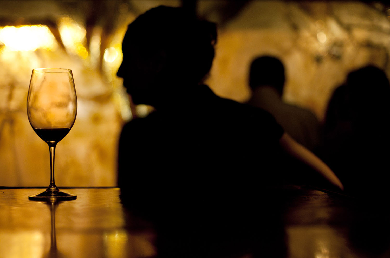 wedding details wine cellar bar reception