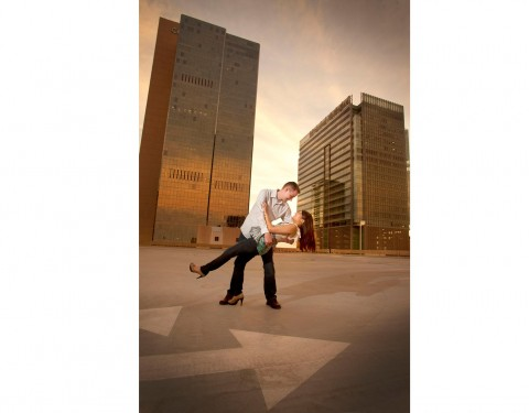 urban downtown engagement session