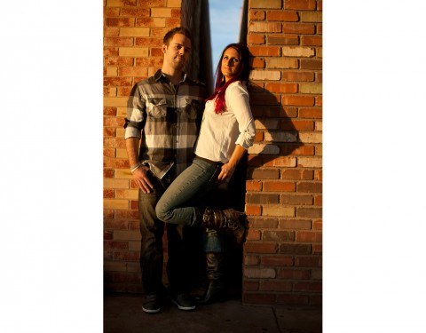 sunset Scottsdale engagement session