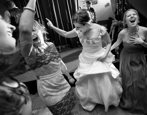 Royal Palms wedding pictures dance party with your girls