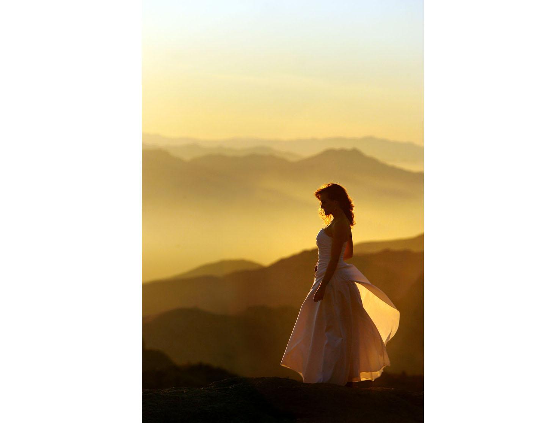 Tucson wedding photography sunset on Mt Lemon