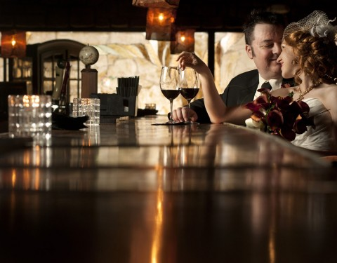 Scottsdale wedding photography wine bar