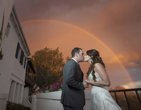 Rainbow wedding