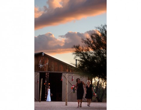 Desert Foothills Scottsdale wedding at sunset