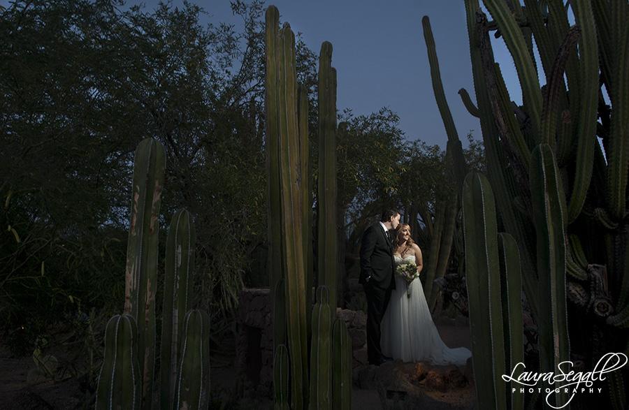 Desert wedding portrait