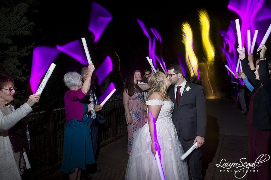 Glow sticks wedding