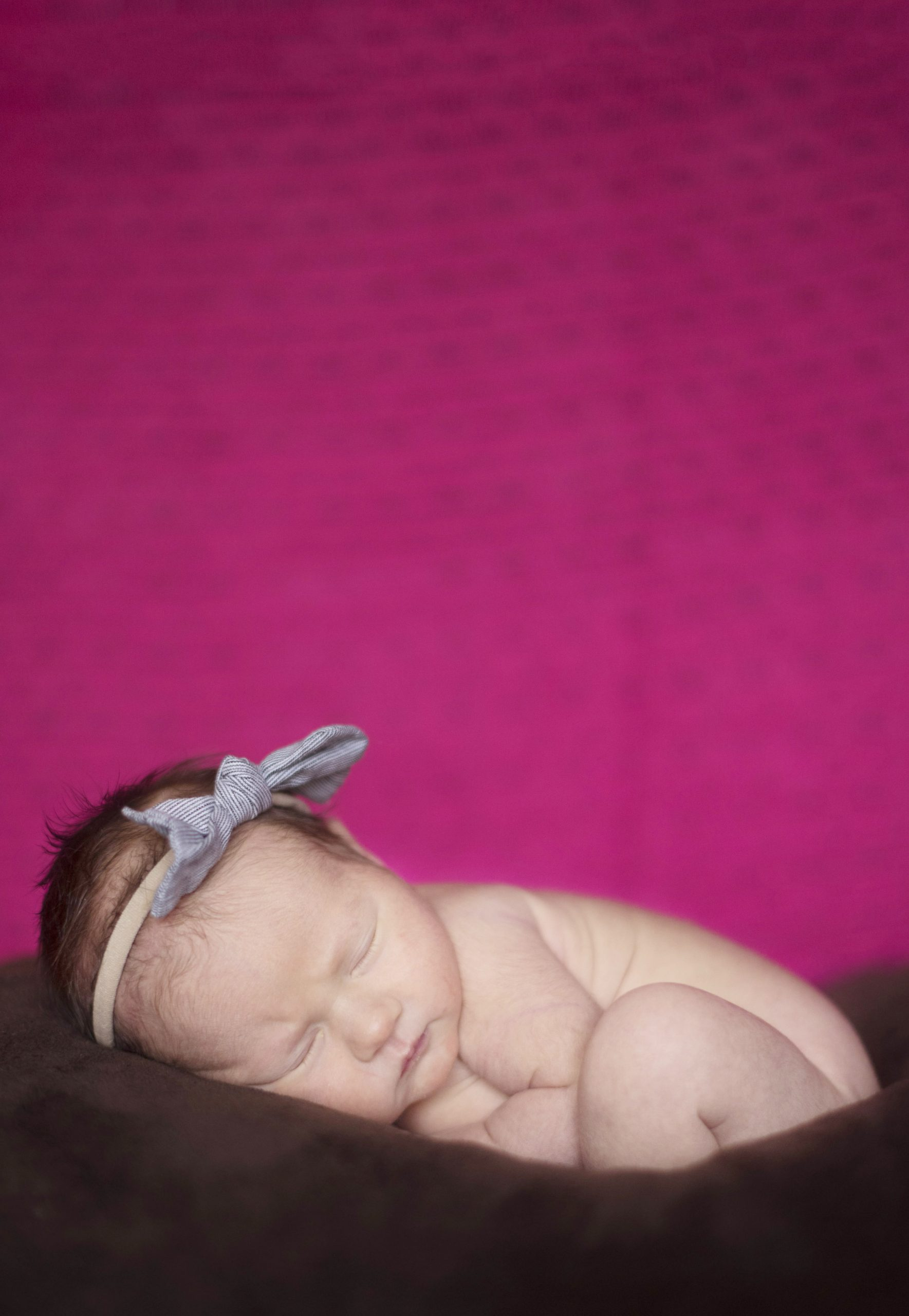 newborn photographer in pink